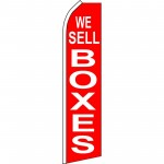 We Sell Boxes Red Swooper Flag