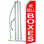 We Sell Boxes Red Swooper Flag Bundle