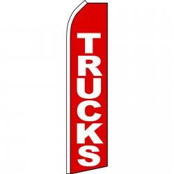 Trucks Red Swooper Flag
