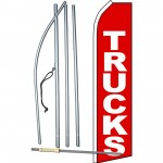 Trucks Red Swooper Flag Bundle