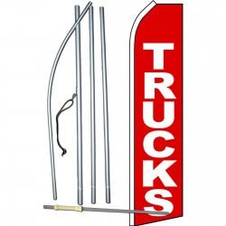 Trucks Red Swooper Flag Bundle