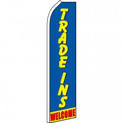 Trade Ins Welcome Swooper Flag