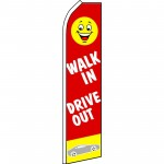 Walk In Drive Out Swooper Flag