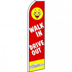 Walk In Drive Out Red Swooper Flag