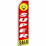 Super Sale Smiley Face Swooper Flag