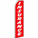 Insurance Red White Swooper Flag