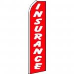 Insurance Red White Swooper Flag
