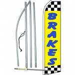 Brakes Yellow Swooper Flag Bundle