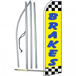 Brakes Yellow Swooper Flag Bundle