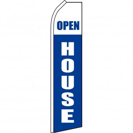 Open House Blue White Swooper Flag