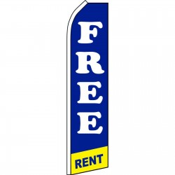Free Rent Swooper Flag