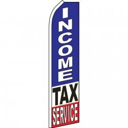 Income Tax Service Blue Swooper Flag