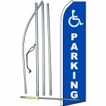 Handicap Parking Swooper Flag Bundle