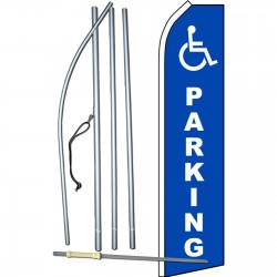 Handicap Parking Swooper Flag Bundle