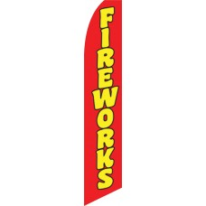 Fireworks Red Swooper Flag