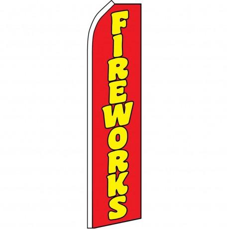 Fireworks Red Swooper Flag