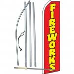 Fireworks Red Swooper Flag Bundle