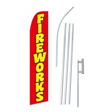 Fireworks Red Swooper Flag Bundle