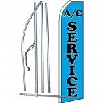 A/C Service Blue Swooper Flag Bundle