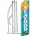 Seafood Octopus Swooper Flag Bundle