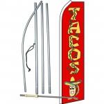 Tacos Red Swooper Flag Bundle