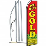 We Buy Gold Red Coin Swooper Flag Bundle