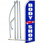 Body Shop Blue Swooper Flag Bundle