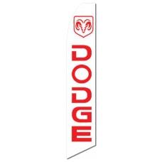 Dodge Ram White Swooper Flag