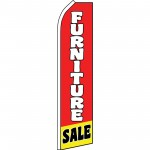Furniture Sale Red Yellow White Swooper Flag