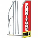 Furniture Sale Red Yellow White Swooper Flag Bundle
