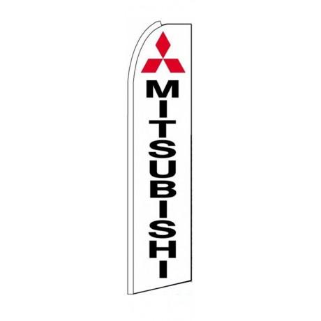 Mitsubishi White Swooper Flag