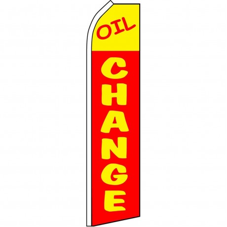 Oil Change Red Yellow Swooper Flag