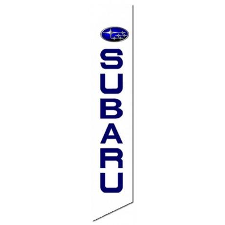 Subaru White Swooper Flag