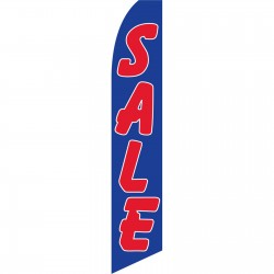 Sale Blue Red Swooper Flag