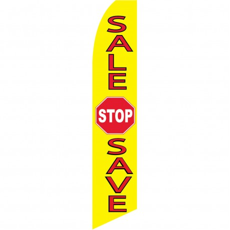 Sale Stop Save Swooper Flag