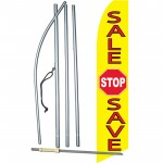 Sale Stop Save Yellow Swooper Flag Bundle