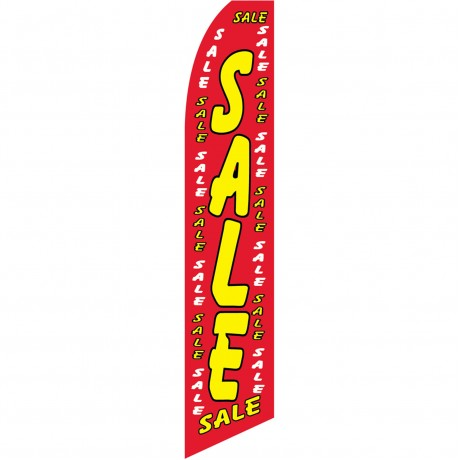 Sale Red Dollars Swooper Flag
