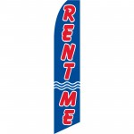 Rent Me Blue Swooper Flag