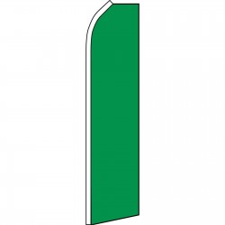 Solid Green Swooper Flag