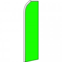 Solid Neon Green Swooper Flag