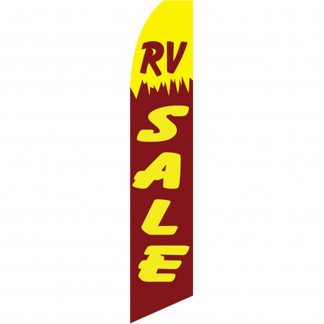 RV Sale Red Swooper Flag