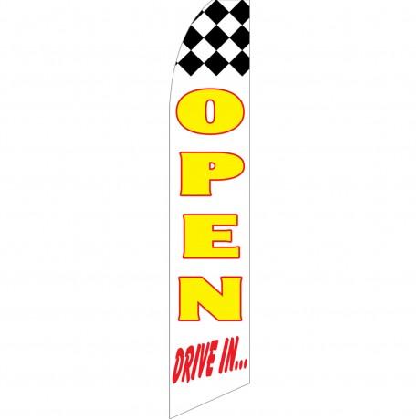 Open Drive In Swooper Flag
