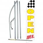 Open Drive In Swooper Flag Bundle