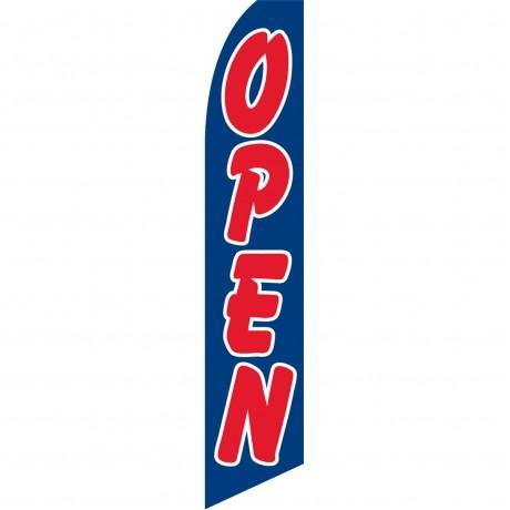 Open Blue Swooper Flag