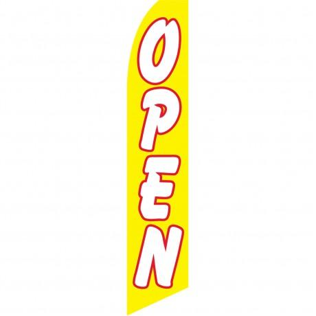 Open Yellow Swooper Flag