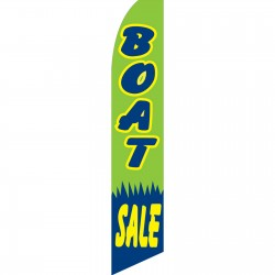Boat Sale Green Swooper Flag