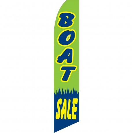 Boat Sale Green Swooper Flag