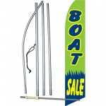 Boat Sale Green Swooper Flag Bundle