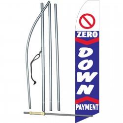 0 Down Payment Blue Swooper Flag Bundle
