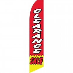 Clearance Sale Red Swooper Flag